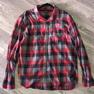 Red and black flannel from Vans